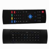 Wholesale 2 G Smart Remote Control Air Mouse Wireless Keyboard keys for MX3 Android Mini PC TV Box Remote Control For Laptop Black
