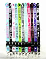 Wholesale LOVE PINK neck straps colors mixed cell phone straps love pink strap Branded for women men couples