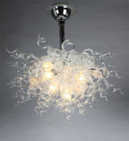 art glass chandelier for sale - Mouth Blown Borosilicate Wedding Decorations Murano Glass Art Dale Chihuly Style Crystal Chandelier Pendant Lamp for Sale