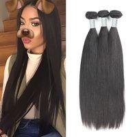 Livraison gratuite Cheveux mondes de la Vierge de Malaisie Cheveux 100% Humains Tisser des paquets 3pcs / lot 10-30 pouces Uglam Hair Top Selling Natural 1b color