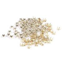 achat en gros de crampons à pointes décoratives-100PCS Gold Five-pointed Star métal Rivet 7mm décoratifs Rock Spike Studs pour chaussures Bag Belt DIY Leathercraft Décoration