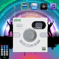 Wholesale Portable Wall Speaker Switch Design AUX mm Multi functional Stereo With FM TF Card U Disk Time Display Headphone Quran player