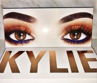 Wholesale 2017 kylie Newest kylie the royal peach palette Royal Peach Palette Burgundy Eyeshadow palette Kylie Jenner Cosmetics