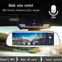 Wholesale Car DVR quot Touch Android Reversing Rearview mirror video wifi GPS Parking Monitor e dog Intelligent voice Dual Lens Dual Lens Dual Lens