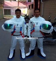 Wholesale High Quality Space suit mascot costume Astronaut mascot costume with Backpack with LOGO glove shoes Adult Size
