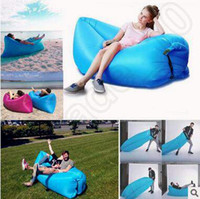 Wholesale 250 cm Fast Inflatable Sofa Sleeping Bag Outdoor Air Sleep Sofa Couch Portable Sleeping Hangout Lounger Inflatable Air Bed CCA5295