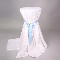 pcs que wedding los manteles blancos redondos del hotel del poliester de los paos de tabla