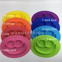 best suction - Best selling smile face placemat for kids one piece laugh smile suction silicone placemat plate for baby feeding