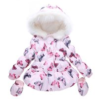 Wholesale Children s cotton clothing Korean girls tide winter tide butterfly collar baby baby cotton padded jacket