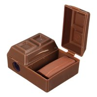 Wholesale Lovely Creative Chocolate Plastic Pencil Sharpener With Eraser For Kids School Supplies Korean Stationery