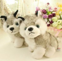achat en gros de chiot peluches-7 pouces 18cm chien husky jouets en peluche animaux de peluche jouets passe-temps Stuffed Plus Animal Enfant Enfant Soft Cadeau Husky Puppy Peluche KKA1105