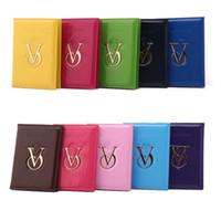 Wholesale victoria secrets Candy Color Travel VS Passport holder Credit ID Card Holder Cash Wallet Organizer Bag Purse Wallet Fashion