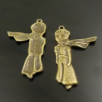 Wholesale 20pcs Necklace amp Bracelet Pendant Jewelry Antiqued Style Bronze Tone Little Prince Child Charms Jewelry Finding
