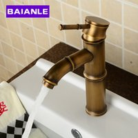 bamboo vessel sinks - Deck Mounted Antique brass Wealth bamboo Faucet Bathroom Vessel Sink Mixer Tap Factory Direct Brass Classic Design Style