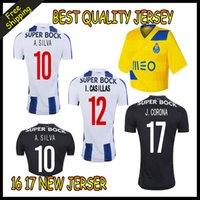 Wholesale 2016 Top Thai quality porto Home away RD Jerseys MAREGA SILVA ABOUBAKAR soccer jerseys porto Shirts