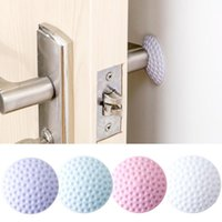 adhesive bumper - Set Round Wall Protector Self Adhesive Door Handle Bumper Guard Stopper Door Behind Wall Protection