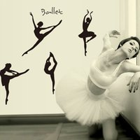 ballet wall decals - Ballet Girls Wall Stickers DIY Art Decal Removeable Wallpaper Mural Sticker for Bedroom Living Room AY9061