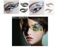 Wholesale HaLu New Arrive Fashion Eye Rock Eyeshadow Rhinestone Crystal Tattoos Stickers Eyelid Makeup Decoration Beauty Tools