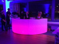 bar counter sale - hot sale colors changing battery powered plastic round led lighting bar counter for party event rental