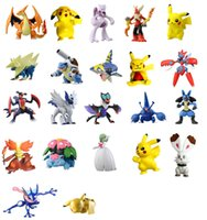 Multicolor action collectibles - 22pcs Monsters Pokeball Pikachu Charmander Action Figures Collectibles Dolls Figurines Kids Toys for boys Girls