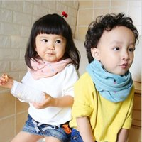 Wholesale 50 Colors Scraf Kids Fashion Scarves Korean Style Kids Boys Girls Numbers Stars Mouse Leaves Plaid Printed Scarf