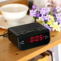 alarm compacts - Mini Portable Compact Digital Alarm Clock FM Radio with Dual Alarm Buzzer Snooze Sleep Timer Red LED Time Display Clock