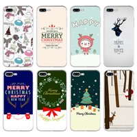 abs day - Phone Case For iPhone S Plus cases hot sale Christmas Day cute Santa Claus Christmas tree Series Ultra Thin Clear Soft TPU Capa