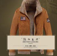australian jackets - The new big yards male fur leather coat Australian safari fur one men s leather jackets with thick fur coat lapels on sale