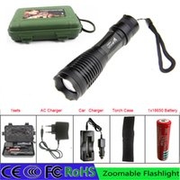 T6 big portable charger - Big Promotion Ultra Bright Flashlight E6 CREE T6 MODE LM LED Flashlight Zoom Torch For xAAA x18650 battery charger