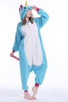 adult funny onesies - 2016 unicorn Adult Fleece Pajamas Animal Onesies Anime Cosplay Sleepwears Halloween Costume Hoodies Unisex Rompers Winter Kigurumi Homewears