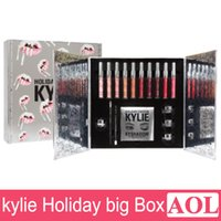 Wholesale 2016 Newest Kylie Holiday Big Box Collection Kit Matte Kylie Jenner Liquid Lipgloss Collection Set For Christmas Gift DHL free