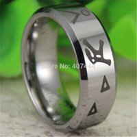 bevel clusters - Fashion Jewelry Rings YGK JEWELRY Hot Sales MM Shiny Silver Bevel Stargate Design Men s Fashion Tungsten Wedding Ring