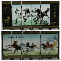 Wholesale Eight jun figure small screen lacquer ware handicrafts with Chinese characteristics