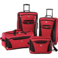 Wholesale American Tourister Fieldbrook II Four Piece Luggage Set Red Black