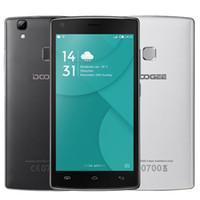 Bon Marché Logos sim-Original DOOGEE X5 MAX Pro 4G LTE 2 Go / 16 Go Logos débloqués Android 6.0 Quad Core MT6737 5.0inch Téléphone mobile 4000mAh Fingeprint
