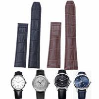 Bracelet en cuir véritable Bracelet en alligator pour bracelet Maurice Montre Bracelet 20 / 22mm Black Bown Lacroix + OUTILS GRATUITS