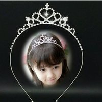 asian hair products - Professional small princess hair accessories The bride headdress children diamond crown hair band Free mail products