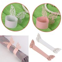 bamboo napkin holder - Napkin Butterfly Ring Paper Holder Table Party Bridal Wedding Favors Event Party Supplies Napkin Holders