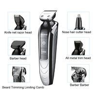 Wholesale 5 in Waterproof Electric Hair Clipper Kemei Professional Hair Trimmer Shaver Beard For Men Waterproof Family Haircut Tool