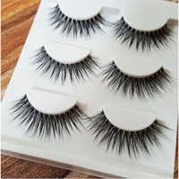 Wholesale 3D Mink Hair False Eyelashes Beauty Thick Long cm Natural Long Fake False Eyelashes Extensions with Transparent Plastic