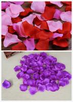 Wholesale 1000 Purple Blue Silk Rose Petals Flower Bridal Wedding Supply Decor Many Colors Hot Sale