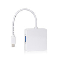 Wholesale S5Q Premium Thunderbolt Mini DP To DVI VGA HDMI In Adapter Cable For MacBook AAAGQL
