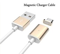 Wholesale 2A Magnetic Charger Cable M Quick Charging LED Lighting Metal Micro USB Sync Cable Cablel for Samsung Galaxy s7 s7edge Andriod Phone