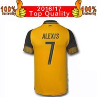 arsenal prints - 2017 Away Yellow Soccer Jersey Championships Printing Ozil Alexis Giroud Football Shirt Thai Quality Arsenals Soccer Jerseys