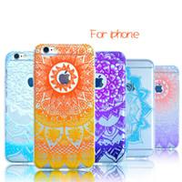 al por mayor accesorios de moda para el teléfono móvil-Para iPhone7 iPhone 5s 6 6s 7 Plus Casos TPU Clear Celular cubre Transparente Moda Flor Cell Phone Accesorios