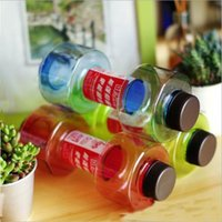 Wholesale Convenient Personalized Dumbbell Cup Fitness Water Bottle Plastic Cup Sealed Leakproof ml Convenient For Fitness Sport Bottle