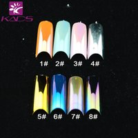 Wholesale KADS Meallitc French Colorful Fashion French Style Acrylic Artificial False Nail Tip Art UV Gel DIY nail tips