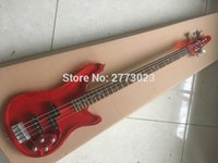 Wholesale The new acrylic crystal bass string electric bass red crystal Yellow crystal factory and retail