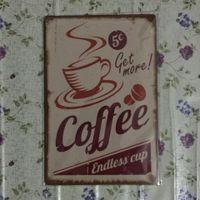 Café Obtenez plus Vintage Decorative Craft Tin Sign Rétro peinture en métal Antique Affiche Bar Pub Signs Wall Art
