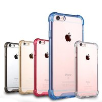 Wholesale Iphone Cover Soft Air Cushion For Iphone7 Plus Corners Slim Double layer TPU Acrylic Hybrid Bumper Drop Resistance Shockproof Protective